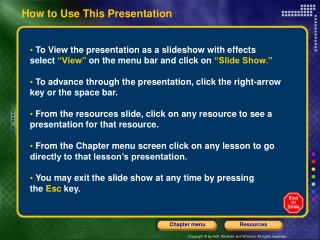 How to Use This Presentation