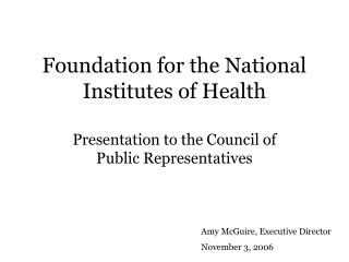 Foundation for the National Institutes of Health