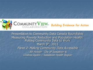 Presentation to Community Data Canada Roundtable