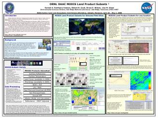 ORNL DAAC MODIS Land Product Subsets 1