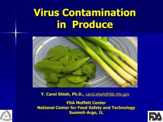 Virus Contamination  in  Produce