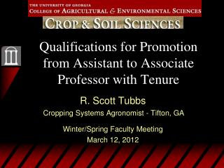 Qualifications for Promotion from Assistant to Associate Professor with Tenure
