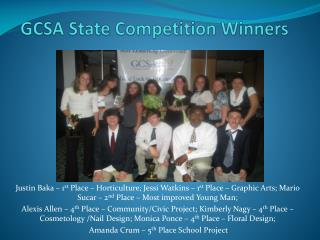 GCSA State Competition Winners