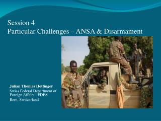Session 4 Particular Challenges – ANSA & Disarmament