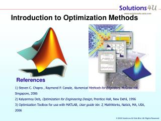 Introduction to Optimization Methods