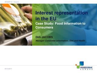 Interest representation in the EU Case Study: Food Information to Consumers