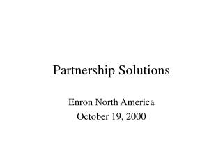 Partnership Solutions