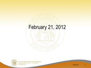 February 21, 2012