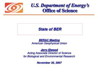 U.S. Department of Energy�s Office of Science