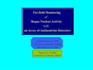 Far-field Monitoring