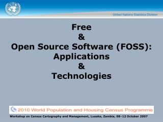 Free  & Open Source Software (FOSS): Applications  & Technologies