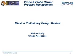 Mission Preliminary Design Review