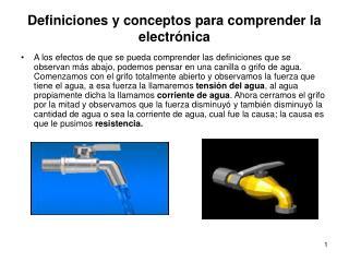 Definiciones y conceptos para comprender la electrónica