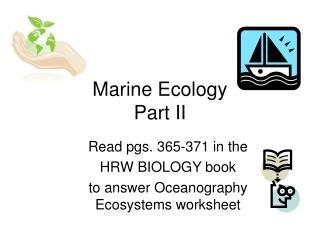 Marine Ecology Part II
