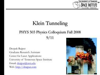 Klein Tunneling
