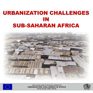 African cities are gowing fast: urbanization rates  exceed  4 - 5% per annum