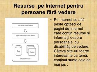 Resurse  pe Internet pentru persoane fără vedere