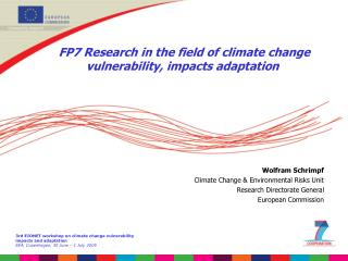 FP7 Research in the field of climate change vulnerability, impacts adaptation