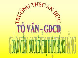 T? V?N - GDCD