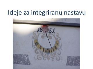 Ideje za integriranu nastavu