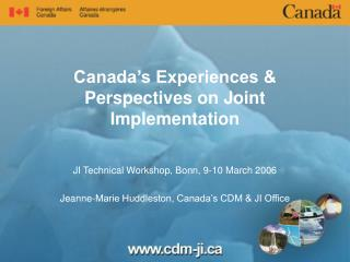 Canada's Experiences & Perspectives on Joint Implementation