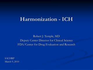 Harmonization - ICH