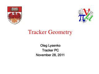 Tracker Geometry