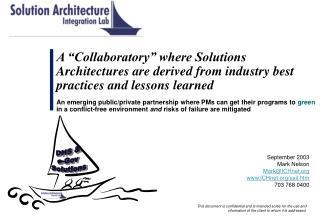 September 2003 Mark Nelson Mark@ICHnet ICHnet/sail.htm 703 768 0400