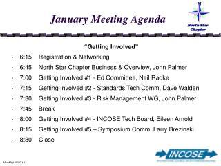 January Meeting Agenda