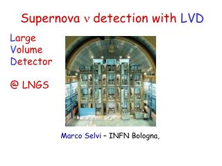 Supernova  n  detection with  LVD