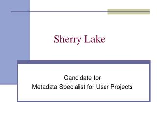 Sherry Lake