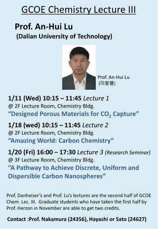 GCOE Chemistry Lecture III