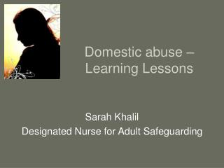 Domestic abuse – Learning Lessons
