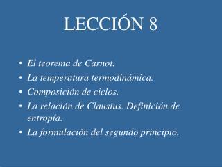 LECCI�N 8
