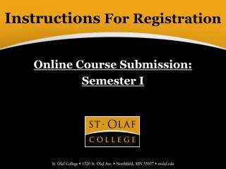 Instructions  For Registration