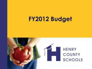 FY2012 Budget