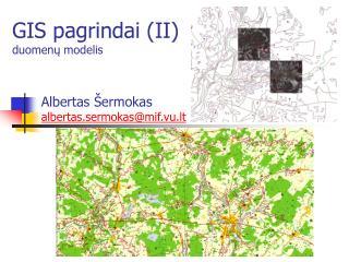 GIS pagrindai (II) duomenų modelis