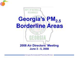 Georgia's PM 2.5  Borderline Areas