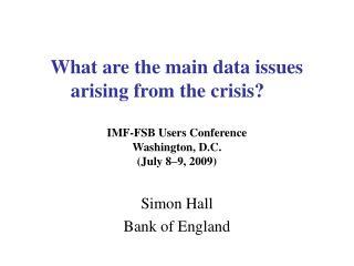 Simon Hall Bank of England