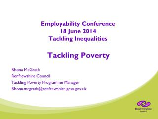 Employability Conference 18 June 2014  Tackling Inequalities