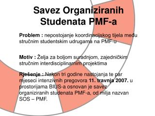 Savez Organiziranih Studenata PMF-a