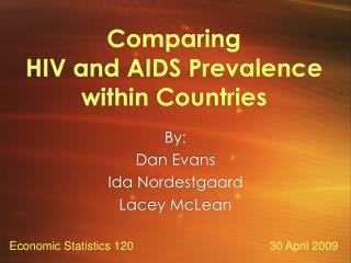 Comparing  HIV and AIDS Prevalence within Countries