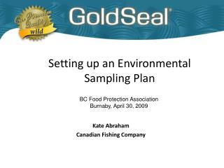 Setting up an Environmental Sampling Plan