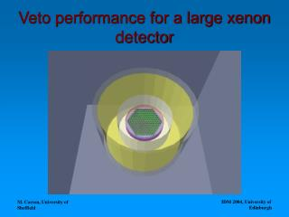 Veto performance for a large xenon detector
