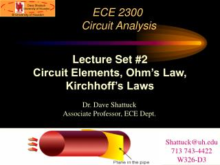 ECE 2300  Circuit Analysis