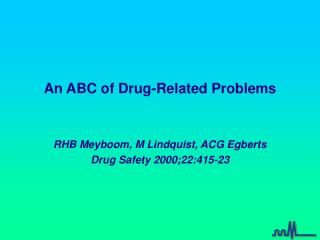 An ABC of Drug-Related Problems