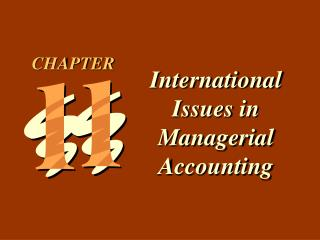 International Issues in Managerial Accounting