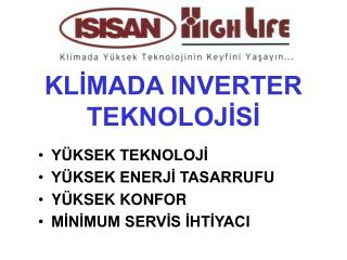 KLIMADA INVERTER TEKNOLOJISI