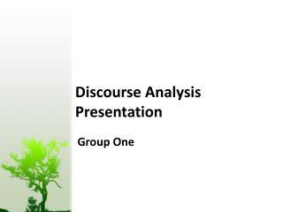 Discourse Analysis Presentation