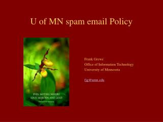 U of MN spam email Policy